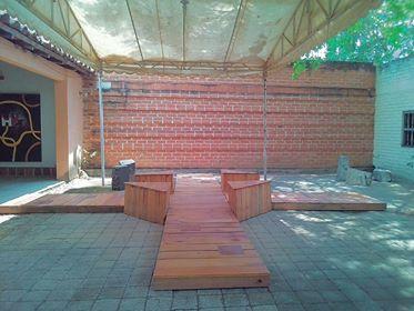 Patio exterior del Gato Tuerto, Cintalapas Chiapas MX