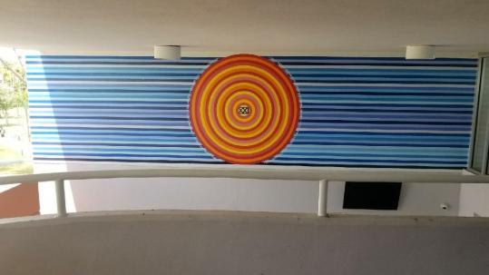 2018 Sol Boricua: Mural en la Escuela de Artes Liberales, U.A.G.M. Gurabo, P.R.
