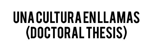 una cultura en llamas dt